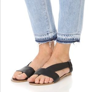 Free people sandals size 38 black